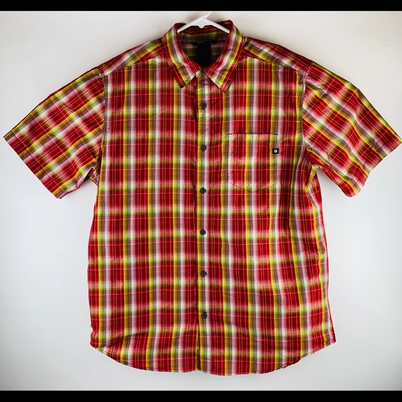 Marmot Other - Marmot Red Plaid Button S/S Shirt
